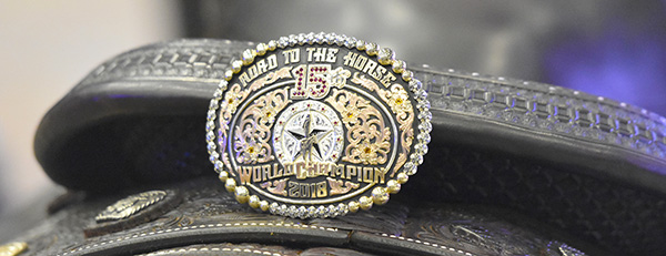 Road to the Horse 2018 world champion buckle